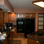 kitchen lighting remodel before