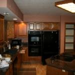 kitchen lighting remodel before